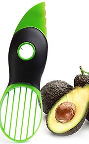 3in1 Multi-function Avocado Slicer Peeler Cutter&Core Remover Fruit Pitter Plastic Safe Durable Blade Good Grip Split