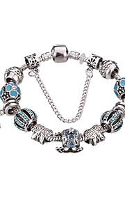 Charm-armbånd / Bangles / Strand Armbånd / Silver Bracelets 1pc,Pudebetræk / Sort / Sølv / Hvid / Blå / Lilla / Pink ArmbåndModerigtig /