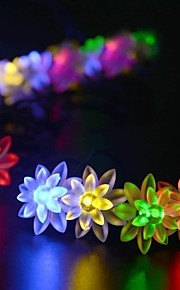Solar Fairy String Lights 10m/33ft 60 LED Lotus Decorative Gardens, Lawn, Patio, Christmas Trees, Weddings