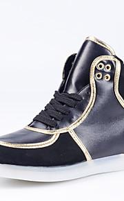 Zapatos de Hombre-Bailarinas-Exterior / Casual / Fiesta y Noche-Semicuero-Negro / Blanco