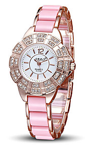 Dames Modieus horloge Kwarts Vrijetijdshorloge Legering Band Glitter Roze