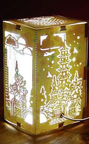 -nos ligar papel criativo liderado escultura 3d decorativa do Natal luz da noite West Lake