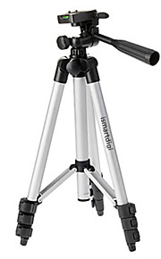 ismartdigi i-3110 4-sektion kamera stativ (sølv + sort) for alle d.camera v.camera nikon canon sony olympus ...