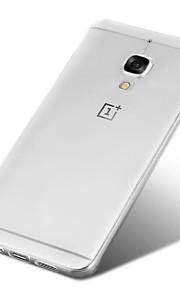 delgada accesorio de piel muy transparente caso de la cubierta de cristal de la cáscara TPU teléfono de nuevo claro para OnePlus 3 tres /