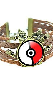 Læder Armbånd 1pc,Brun Armbånd Yndig Round Shape Smykker Læder smykker
