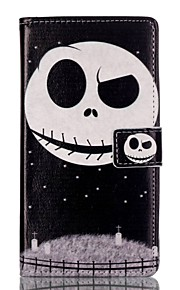 Full Body Card Holder / Wallet / with Stand / Flip Skull PU Leather Hard Case Cover For HuaweiHuawei P9 / Huawei P9 Lite / Huawei Honor