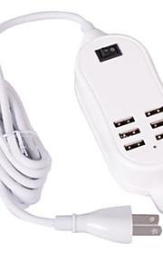 6 porte USB Porte Multi Presa US caricatore domestico con cavo per iPad / per il cellulare / For iPhone5V , 1A / 2,1A / 2A / 0.5A)