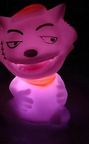 muñeca lobo colorido llevado luz nocturna