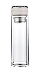 garrafa de água de vidro de duas camadas