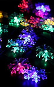 Solar Fairy String Lights 10m/33ft 60 LED Snowflake Decorative Gardens, Lawn, Patio, Christmas Trees, Weddings