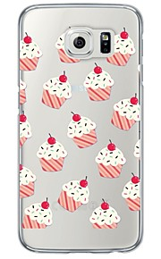 Cupcakes Pattern Soft Ultra-thin TPU Back Cover For Samsung GalaxyS7 edge/S7/S6 edge/S6 edge plus/S6/S5/S4