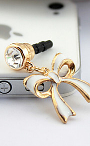 F208 koreanska söt rosett oljedamm plugg 3.5mm universella mobiltelefon dammtät plugg