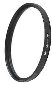 emoblitz 43mm uv ultraviolet protector linse filter sort