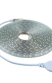 NO 5 M 300 5050 SMD 웜 화이트 / 화이트 / 레드 / 블루 / 그린 컷테이블 24 W 유연한 LED 조명 스트립 DC 24 V