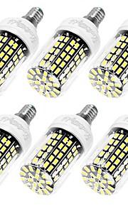 10W E14 / E26/E27 LED-kornpærer T 108 SMD 5733 950 lm Varm hvit / Kjølig hvit Dekorativ AC 220-240 V 6 stk.