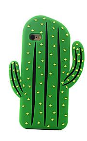 tilbage Støtsikker Frukt Silikon Myk cactus Tilfelle dekke for Apple iPhone 6s Plus/6 Plus / iPhone 6s/6 / iPhone SE/5s/5