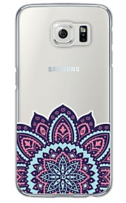 Blue and Pink Printing Pattern Soft Ultra-thin TPU Back Cover For Samsung GalaxyS7 edge/S7/S6 edge/S6 edge plus/S6/S5/S4