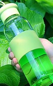 pura cor garrafa de água de vidro transparente