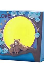 kreativa tecknad björn månsken ledde nattlampa