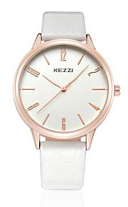 KEZZI Casal Relógio de Moda Relógio de Pulso Quartzo Quartzo Japonês PU Banda Casual Preta Branco Marrom