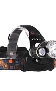 LED손전등 LED 4.0 모드 2000 lumens 루멘 조절가능한 초점 / 방수 / 충전식 / 충격 방지 / 스트라이크베젤 / 컴팩트 사이즈 / 응급 / 나이트 비젼 / 슈퍼 라이트 / 높은 전력 크리T6 18650캠핑/등산/동굴탐험 /