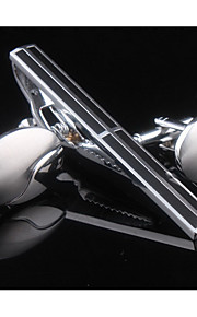 Manchetknapper sæt 1 Sæt,Ensfarvet Sølv Mode Manchetknapper Mænds Smykker