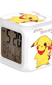 Cartoon Pet Colorful Luminous Alarm Clock-14#
