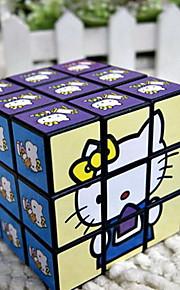 Brinquedos / Cubos Mágicos 3*3*3 / Toy magic Cube velocidade lisa Magic Cube quebra-cabeça Arco-Íris Plástico