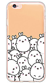 patrón de conejos TPU de la historieta contraportada suave translúcido ultrafino para el iPhone de Apple 6s 6 Plus SE / 5s / 5