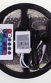 5m 16.4ft עמיד למים RGB 300x5630 SMD LED רצועות גמישות הוביל אור +24 2a מפתח ir 12v אספקת החשמל ac100-240v