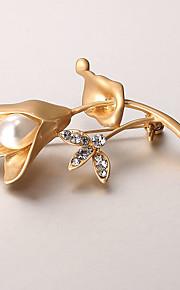 europæiske og amerikanske mode zircon perle broche serie 009