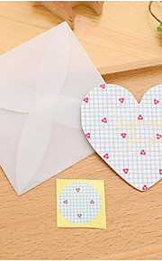 Valentine Greetings Love Korean Small Fresh Romantic Heart-Shaped Folded Greeting Card / Cards / Message Card 6