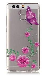 뒷면 커버 비스크 / Other 꽃장식 TPU 소프트 케이스 커버를 들어 HTC 화웨이 P9