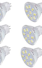 2 GU4(MR11) LED-spotpærer MR11 9 SMD 5733 150 lm Varm hvit / Kjølig hvit Dekorativ 9-30 V 6 stk.