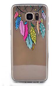 כיסוי אחורי Bisque נוצות אקרילי קשיח Case כיסוי Samsung Galaxy S7 edge / S7 / S6 edge / S6 / S5