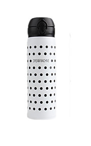 JCLEANINC Stainless Steel / BPA free / PP Water Bottle Black / White