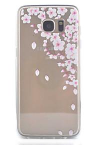 כיסוי אחורי Bisque פרח אקרילי קשיח Case כיסוי Samsung Galaxy S7 edge / S7 / S6 edge / S6 / S5