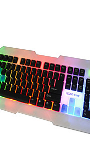 Rainbow Backlit  Home Office Wired  USB Computer Keyboard  108 Key
