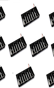 10PCS Eight Sections AA Battery Box Can Be Mounted 8 5 Batteries Section Single Row
