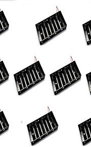 10шт восемь секций аа батарейный блок может быть установлен 8 5 батарей раздел одну строку