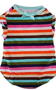 Cães Camiseta Multicolorido Inverno / Verão / Primavera/Outono Clássico / Riscas Casamento / Natal / S. Valentim / Da Moda, Dog Clothes /