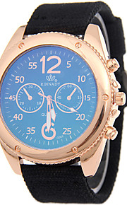 Heren Sporthorloge / Militair horloge / Dress horloge / Modieus horloge / Polshorloge Kwarts / Stof Band Cool / VrijetijdsschoenenZwart /