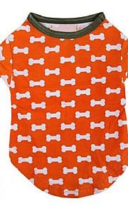 Hunde T恤衫 Orange Vinter / Sommer / Forår/Vinter Ben / Klassisk Bryllup / Jul / Valentins / Mode, Dog Clothes / Dog Clothing-Lovoyager