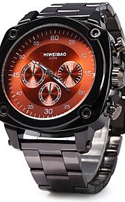 Heren Modieus horloge Kwarts / Roestvrij staal Band Cool Zwart Merk