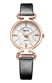 kezzi 2016 new arrvial leather fashion women quartz watch 1464