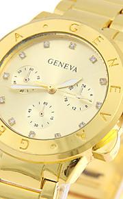Mulheres Relógio Elegante / Relógio de Moda / Relógio de Pulso Quartz / Aço Inoxidável Banda Legal / Casual Prata / Dourada / Ouro Rose
