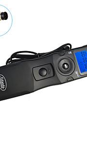 sidande® 7104 tempo lcd obturador lapso intervalometer controle remoto temporizador para Nikon D800 / D700 / D300