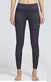 Yoga Pants Sykling Tights Pustende / Lettvektsmateriale Naturlig Høy Elastisitet Drakter Svart Dame Sport Yoga & Danse Sko