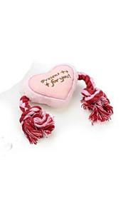 corda di cotone denti doppio nodo giocattoli morso di cane giocattoli di peluche doppio amore corda di cotone di colore
