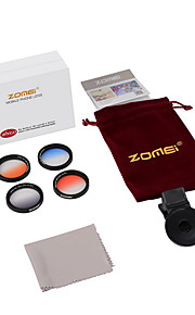 Zomei® M4  GC-Grey+GC-Bule+GC-Orange+GC-Red Clip Iphone Lense for Iphone/Android Smartphone Camera